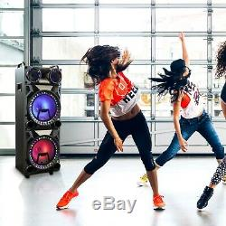 Befree Sound 12 Double Subwoofer Bluetooth Portable Dj Pa Party Enceintes Withlights
