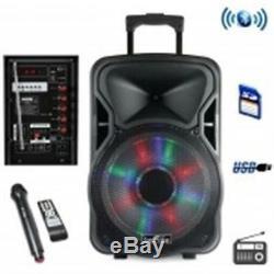 Befree Sound 12in. Haut-parleur De Fête Rechargeable Bluetooth Avec Lumière Illuminante