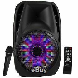 Befree Sound 15 5000w Bluetooth Hayon Pa Dj Haut-parleur Éclairage Télécommande MIC
