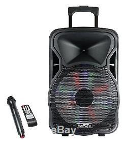 Befree Sound 15 Haut Parleur Dj Pa Bluetooth Portable Rechargeable Avec Éclairage