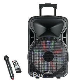 Befree Sound 15 Haut Parleur Dj Pa Party Bluetooth Rechargeable Avec Éclairage MIC Usb Aux