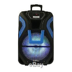 Befree Sound 15 Système De Haut-parleurs Dj Pa Bluetooth Recherchable Avec MIC & Light