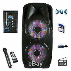 Befree Sound 2x12 Woofer Haut-parleur Dj Party Bluetooth Portable Avec MIC & Lights