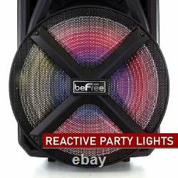 Befree Sound 800w 15 Bluetooth Portable Dj Party Speaker Rechargeable Bfs-2115
