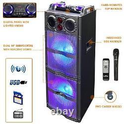 Befree Sound Bfs-5501 Dual 10 Subwoofer Portable Bluetooth Party Haut-parleur Remote