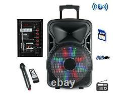 Befree Sound Bfs-5800 15 Po. Haut-parleur De Partie Rechargeable Bluetooth Avec Illuminat
