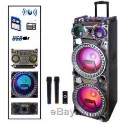 Befree Sound Bfs-k10 Dual 10 Pouces Subwoofer Bluetooth Portable Partie Haut-parleur Nouveau