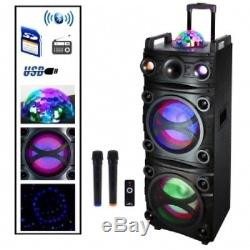 Befree Sound Bfs-k12 Dual 10 Pouces Subwoofer Bluetooth Portable Partie Haut-parleur Nouveau