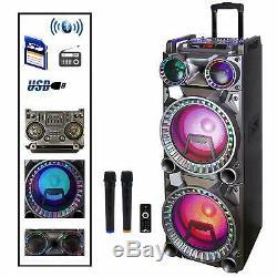 Befree Sound Double 10 Bluetooth Portable Dj Pa Enceintes Party Avec Feux MIC Usb
