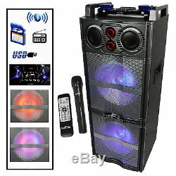 Befree Sound Double 10 Pouces Subwoofer Bluetooth Haut-parleur De Soirée Portable Bfs-5501