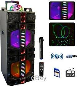 Befree Sound Double 12 Portable Bluetooth Dj Pa Enceintes Party Avec Feux MIC Usb
