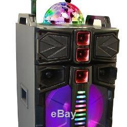 Befree Sound Double 12 Subwoofer Haut-parleur Bluetooth Party Portable Avec Micro Lights