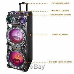 Befree Sound Dual 10 Haut-parleur Portatif Dj Pa Bluetooth Portable Avec Lights MIC Usb
