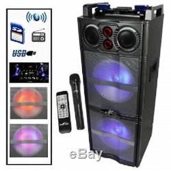 Befree Sound Dual 10 Subwoofer Bluetooth Portable Dj Pa Partie Haut-parleur MIC Usb