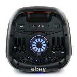 Befree Sound Dual 8 Portable Party Speaker W Bluetooth Wireless Lights Remote