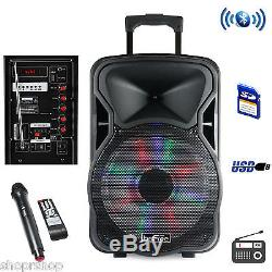 Befree Sound Haut-parleur De Fête Rechargeable Bluetooth De 15 Pouces Avec Éclairage Illuminé
