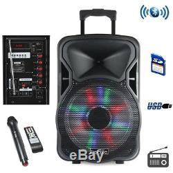Befree Sound Haut-parleur Rechargeable Bluetooth De 12 Pouces Avec Illuminati