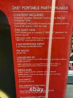 Billboard 2 X 8 Navires De Partenaire Rechargeables, Portatifs Et Gratuits