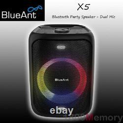 Blueant X5 Bluetooth Party Speaker 60w 2 Microphones 5200mah Batterie Noire