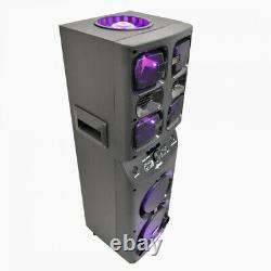 Bluetooth Fort Parti Haut-parleur Avec 6 Haut-parleurs 4900 Watt Led Disco Lights
