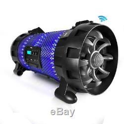 Bluetooth + Nfc Boombox Haut-parleur Stéréo Système Avec Party Led Multi-couleurs Lumières