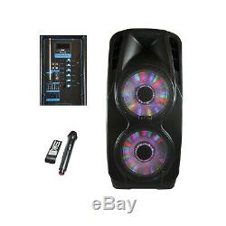 Bluetooth Portable 3000w Party Pa Haut-parleur Avec Caisson De Basses 12 Double Bass Amp Et MIC