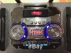 Bluetooth Rechargeable Party Dj Haut-parleur Double 12 Pouces Avec Des Lumières + Micro Sans Fil