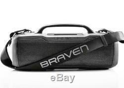 Braven Brv-xl Haut-parleur Étanche Et Robuste Gris Portable, Partout Parti Boombox