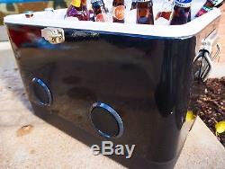 Brekx 54qt Party Cooler Noir Avec Haut-parleurs Bluetooth De Grande Puissance
