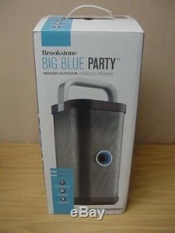 Brookstone Big Blue Party Bluetooth Indoor-outdoor Speaker -rare Impeccable
