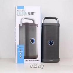 Brookstone Big Blue Party Extérieur Sans Fil Haute Puissance Bluetooth Haut-parleur 72w Gris