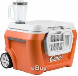 Coolest Cooler Party Blender Haut-parleur Bluetooth, Led, Chargeur Usb, Plaques, Orange