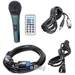 Dj Pa Musique Système Audio Haut-parleurs Stéréo Éclairage Audio Bluetooth MIC Lumières Led