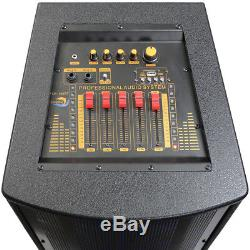 Dolphin 3100w Bluetooth Dj Party Speaker Avec Lumières Et Carte Son Professionnelle