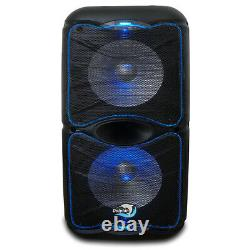 Dolphin Audio Sp-212rbt Dual 12 Party Speaker Rechargeable