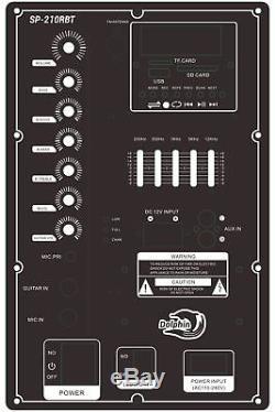 Dolphin Sp-210rbt - Système De Haut-parleurs De Fête Karaoké Rechargeable Avec Batterie Supplémentaire