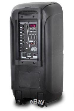 Dolphin Sp-212rbt - Système De Haut-parleurs De Fête Bluetooth Rechargeable, Double 12, 3600 Watt