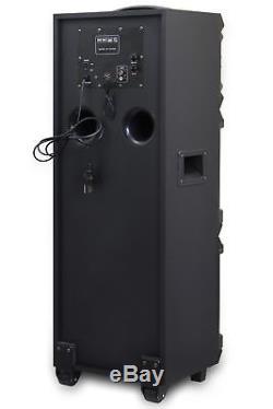 Dolphin Sp-808bt - Haut-parleur De Fête Double De 8 Pouces Avec Lumières, Bluetooth Et Radio Fm