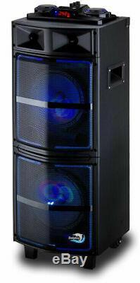 Dolphin Sp-909rbt Rechargeable Parti Bluetooth Grand Haut-parleur Et Portable Avec Led