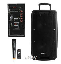 Double 10 Bluetooth Portable Pa Party Haut-parleur Rechargeable Système Avec MIC Et À Distance