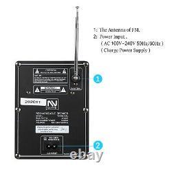 Double 10 Subwoofer Bluetooth Portable Party Fm Haut-parleur Avec MIC Led Remote Usb/sd