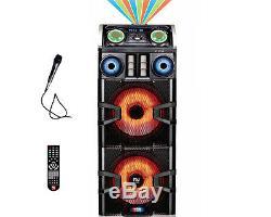 Double 15 Dj Pro Mega Party Speaker System Accueil Bluetooth Stéréo Disco Effet