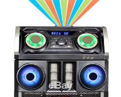 Double Effet De Disco Stéréo Bluetooth Du Système De Haut-parleurs Du Parti 15 Pro Du Dj Mega