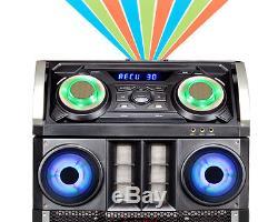 Double Effet De Disco Stéréo Bluetooth Du Système De Haut-parleurs Du Parti 15 Pro Pro Mega Dj