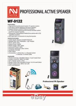Double Haut-parleur Bluetooth Karaoké 12 Pouces Avec Écran Android 12 Pouces LCD