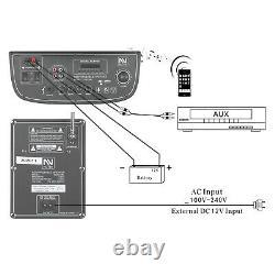 Dual 10 Bt Portable Party Bluetooth Haut-parleur Rechargeable Avec Télécommande