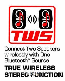 Dual 8 Pouces Bluetooth Haute Puissance True Wireless Sync Party Speakers Disco Light