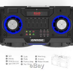 Earise Dt60-e Haut-parleur De Sonorisation Portable Bluetooth Party Dj Karaoke Usb Nfc Fm Aux