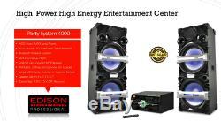 Edison Professional Party System Dual 4000 Enceintes Bluetooth 2 Micros Câblés
