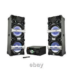 Edison Professional Ps4500 Dual Tower Party System Avec Karaoke